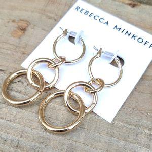 Rebecca Minkoff drop ring earrings NWT